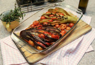 Кабачки и баклажаны, запеченные в духовке: рецепт