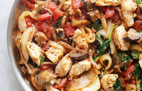 Баклажаны с мясом в духовке: рецепт с курицей
