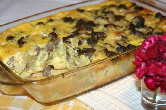картошка с печенью в духовке