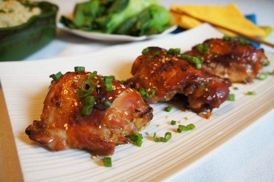 Курица в медово-соевом соусе в духовке