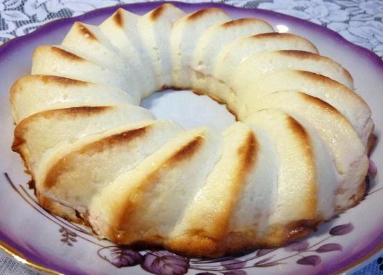 Творожная запеканка с яблоками в духовке: рецепт