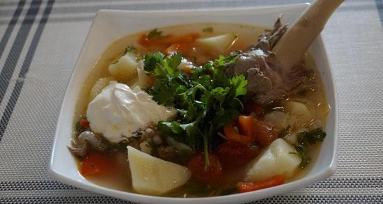 Баранина с овощами в духовке (с картошкой)