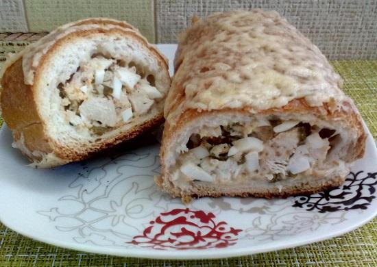 Фаршированный багет: рецепт в духовке