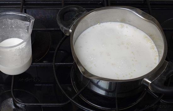 Залейте молоком пшено