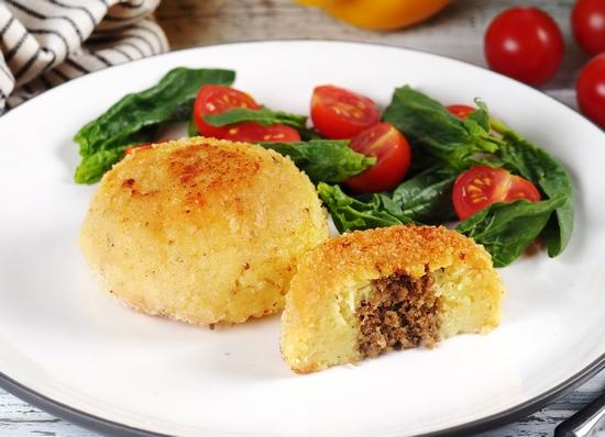 Зразы в духовке из картофеля и печени