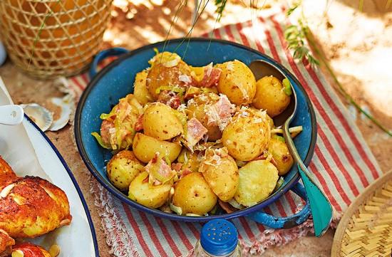 картошка с беконом в духовке