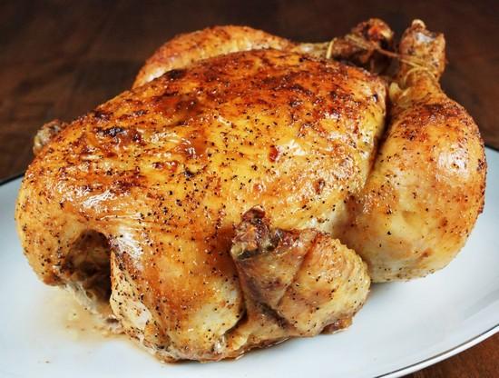 Курица с майонезом и чесноком в духовке запеченная целиком