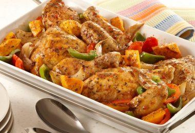Курица с овощами в духовке: рецепт