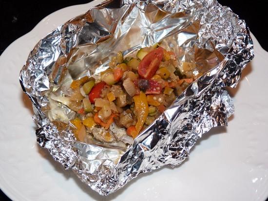 овощи в духовке, запеченные в фольге