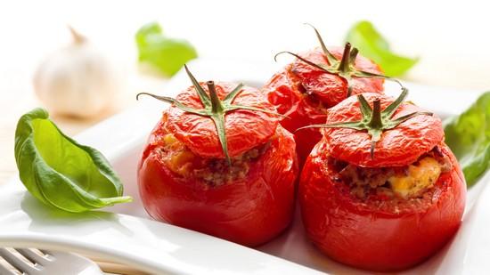 печеные помидоры в духовке целиком с фаршем
