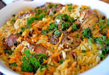 Рис с курицей в духовке: рецепт