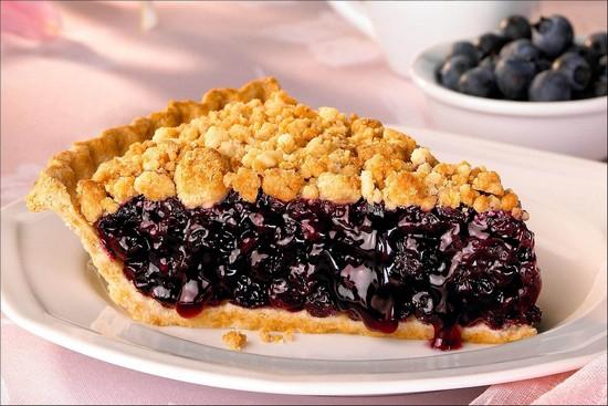 Открытый пирог с черникой в духовке: рецепт пошаговый