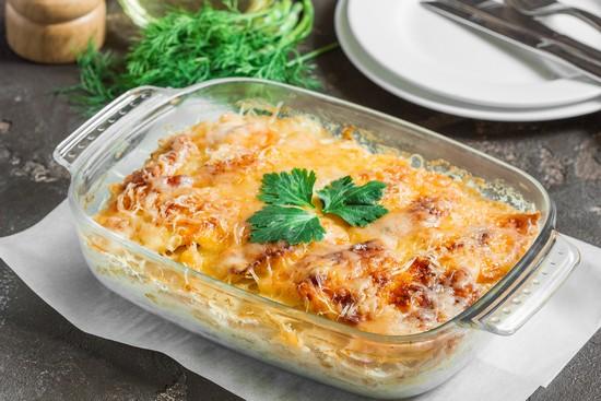 Стейки горбуши, запеченные в духовке с картофелем: рецепт пошаговый