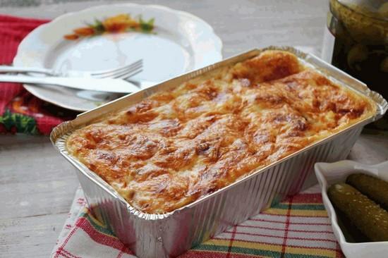картофельная запеканка с фаршем в духовке: рецепт с пошаговым описанием