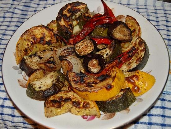 Овощи гриль в духовке: рецепт с фото