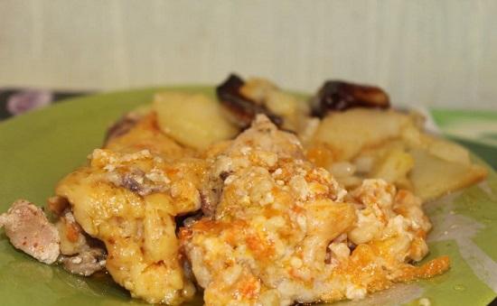 Курица с тыквой в духовке: рецепт