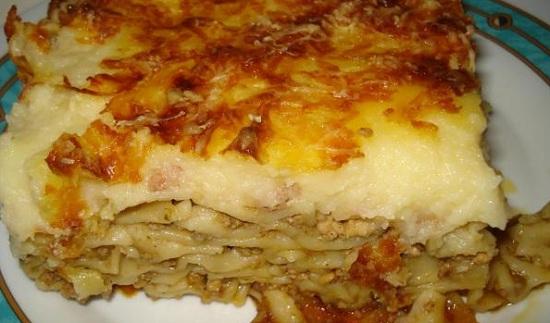 Макароны с фаршем в духовке: рецепт греческой запеканки