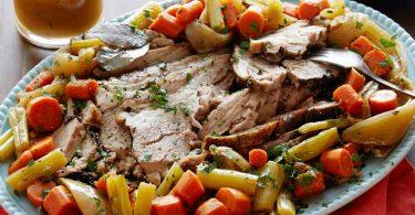 Свинина, запеченная с овощами в духовке