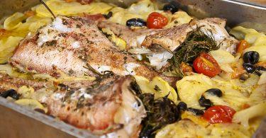 Морской окунь в духовке: рецепты