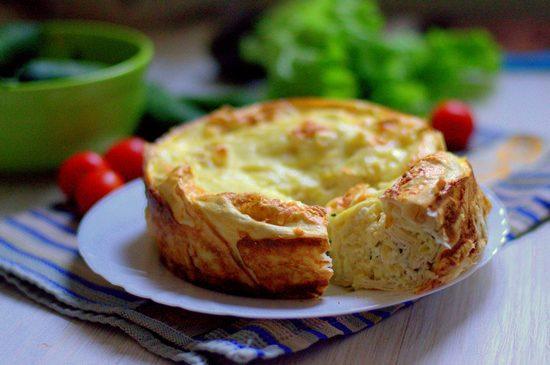 Слоеный сырный пирог из лаваша в духовке: рецепт на скорую руку