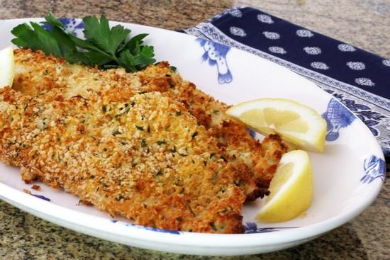 Филе тилапии в духовке: рецепт с хлебно-сливочной корочкой