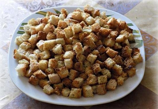 Сухари в духовке: рецепт традиционный