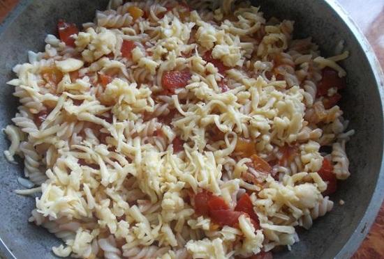 макароны с фаршем в духовке